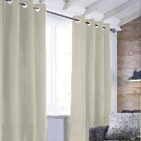 Rideau - Store - Accessoire Rideau sueden 100% Polyester - Beige clair - 140x250 cm Aucune