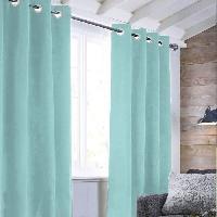 Rideau - Store - Accessoire Rideau sueden 100% Polyester - Bleu clair - 140x250 cm Aucune