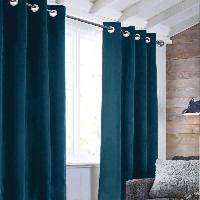 Rideau - Store - Accessoire Rideau sueden 100% Polyester - Bleu intense - 140x250 cm Aucune
