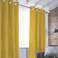 Rideau - Store - Accessoire Rideau sueden 100% Polyester - Jaune - 140x250 cm Aucune