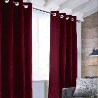 Rideau - Store - Accessoire Rideau sueden 100% Polyester - Rouge bourgogne - 140x250 cm Aucune