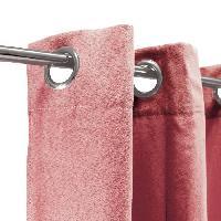 Rideau - Store - Accessoire Rideau sueden 100% Polyester - Terra cotta - 140x250 cm Aucune