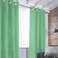 Rideau - Store - Accessoire Rideau sueden 100% Polyester - Vert clair - 140x250 cm Aucune