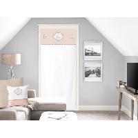 Rideau - Store - Accessoire SOLEIL D'OCRE Brise bise Esprit Famille 100 Coton 70x200 cm - Naturel - Soleil D Ocre