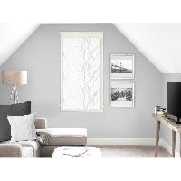 Rideau - Store - Accessoire SOLEIL D'OCRE Brise bise Liane 45x90 cm - Blanc - Soleil D Ocre