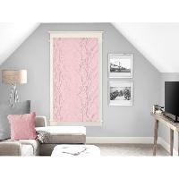 Rideau - Store - Accessoire SOLEIL D'OCRE Brise bise Liane 60x120 cm - Rose - Soleil D Ocre