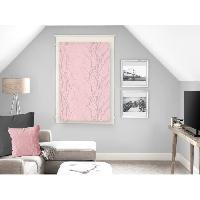 Rideau - Store - Accessoire SOLEIL D'OCRE Brise bise Liane 60x90 cm - Rose - Soleil D Ocre