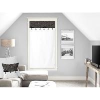 Rideau - Store - Accessoire SOLEIL D'OCRE Brise bise Oasis - 100 coton - 60 x 120 cm - Noir - Soleil D Ocre