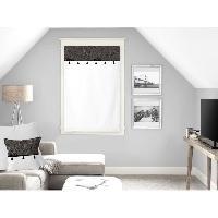 Rideau - Store - Accessoire SOLEIL D'OCRE Brise bise Oasis - 100 coton - 60 x 90 cm - Noir - Soleil D Ocre