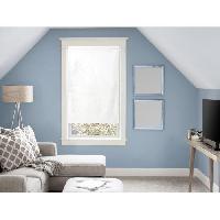 Rideau - Store - Accessoire SOLEIL D'OCRE Brise bise Panama - 60x120 cm - Blanc