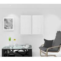 Rideau - Store - Accessoire SOLEIL D'OCRE Paire de Brise bise Noemie - 45 x 90 cm - Blanc - Soleil D Ocre