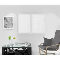 Rideau - Store - Accessoire SOLEIL D'OCRE Paire de Brise bise Noemie - 60 x 90 cm - Blanc - Soleil D Ocre