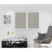 Rideau - Store - Accessoire SOLEIL D'OCRE Paire de Brise bise Noemie - 60 x 90 cm - Taupe - Soleil D Ocre