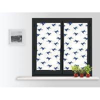 Rideau - Store - Accessoire SOLEIL D'OCRE Paire de brise bise Colibri - 60x120 cm - Bleu
