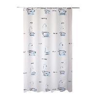 Rideau De Douche FRANDIS Rideau de douche en PVC baignoire gris