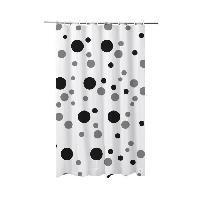 Rideau De Douche FRANDIS Rideau de douche en PVC pois gris et noir