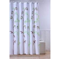 Rideau De Douche FRANDIS Rideau de douche textile Tige Bambou - multicolore