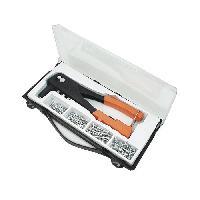 Riveuteuse - Pince A Rivet MANNESMANN Kit de pince a riveter + 100 rivets + 4 embouts - Orange