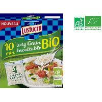 Riz LUSTUCRU Riz long grain incollable bio - 4 sachets de 90 g