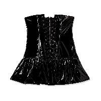 Robes et jupes Mini robe evasee en vinyl avec bonnets ouverts - Noir - Taille S