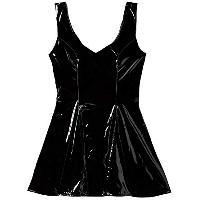Robes et jupes Mini robe patineuse en vinyl - Noir - Taille S