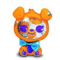 Robot- Personnage - Animal Anime Miniature LES ZEQUINS Animal 14 cm avec sequins magiques - Chien orange - Blinger