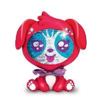 Robot- Personnage - Animal Anime Miniature LES ZEQUINS Animal 14 cm avec sequins magiques - Chien rouge - Ruby