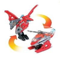 Robot- Personnage - Animal Anime Miniature Switch et Go Dinos Mini - Helion. Le Pteranodon -Helicoptere-