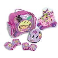 Roller In Line DORA Pack Rollers en Ligne + Set de Protections et Casque