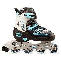 Roller In Line NIJDAM JUNIOR Combine Rollers patins a glace artistiques - Enfant - Noir Bleu