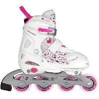 Roller In Line NIJDAM JUNIOR Rollers en ligne ajustables - Enfant - Coque semi rigide - Blancrose