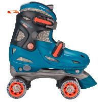 Roller In Line NIJDAM JUNIOR Rollers quad ajustables - Enfant - Bleu - 3033