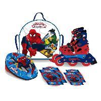 Roller In Line SPIDERMAN Pack Rollers en Ligne + Set de Protections et Casque