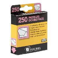 Ruban Adhesif - Mousse Adhesive PANODIA Boîte de 250 pastilles adhésives double-face