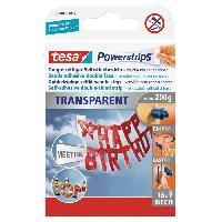Ruban Adhesif - Mousse Adhesive TESA Bande adhesive - Powerstrips - Transparent - x 16