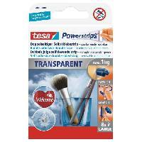 Ruban Adhesif - Mousse Adhesive TESA Bande adhesive - Powerstrips - Transparent - x 8