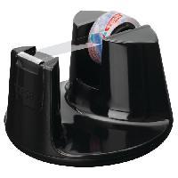 Ruban Adhesif - Mousse Adhesive TESA Derouleur tesafilm Easy Cut Compact noir laque + 1 ruban adhesif crystal clear - 10m x 15mm