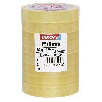 Ruban Adhesif - Mousse Adhesive TESA Tour de 8 rubans adhesif tesafilm standard - 66m x 19mm