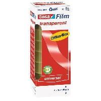 Ruban Adhesif - Mousse Adhesive TESA Tour de 8 rubans adhesif tesafilm transparent - 33mm x 19mm