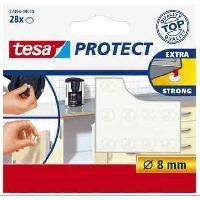 Ruban Adhesif Electricite Pastilles antiglisse et antibruit - A? 8mm - Transparentes