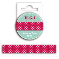 Ruban De Masquage - Masking Tape Masking tape rouge pois blanc - 10m