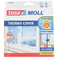 Ruban Masquage - Film Adhesif Masquage TESA Film de survitrage Thermo Cover - 4 m x 1.50 m - Transparent