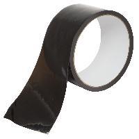 Ruban de Bondage transparent - 18m-5cm - Noir
