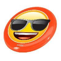 Running - Athletisme EMOJI Disque volant frisbee Lunette de Soleil - 23cm - Jaune et Orange