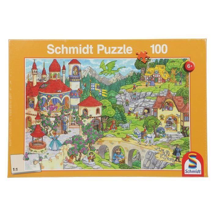 SCHMIDT-SPIELE-Puzzle-Au-pays-des-contes-de-fees-100-pieces