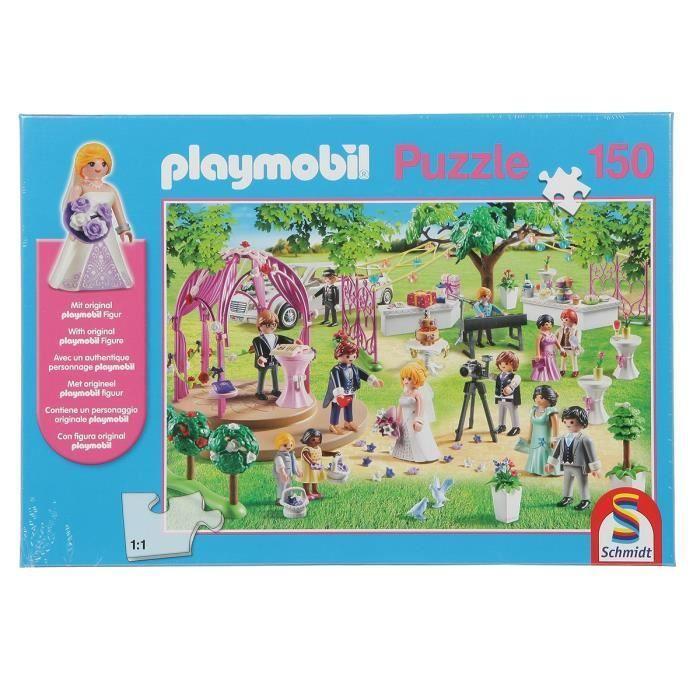 SCHMIDT-SPIELE-Puzzle-Playmobil-Mariage-150-pieces