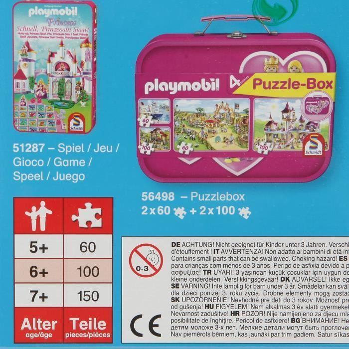 SCHMIDT-SPIELE-Puzzle-Playmobil-Mariage-150-pieces miniature 2