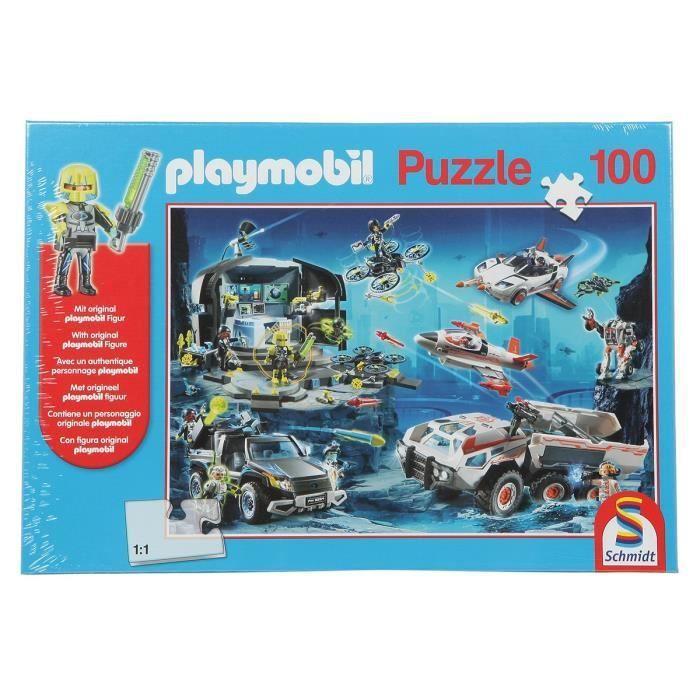 SCHMIDT-SPIELE-Puzzle-Playmobil-Top-agents-100-pieces