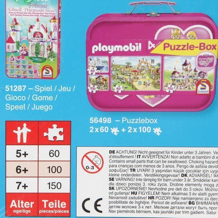 SCHMIDT-SPIELE-Puzzle-Playmobil-Top-agents-100-pieces miniature 2