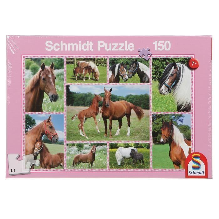 SCHMIDT-SPIELE-Puzzle-Reves-de-chevaux-150-pieces
